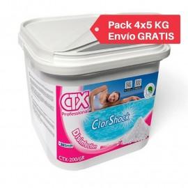 Clor rápid granulat CTX-200/gr ClorShock 55 %