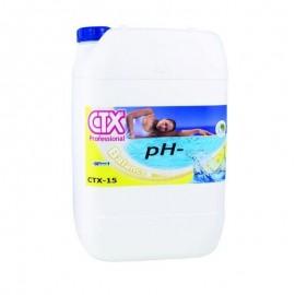 Minorador de pH líquido CTX-15 pH-  garrafa 20 litros